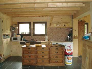 Ferienhaus in den Portes du Soleil - offene Küche