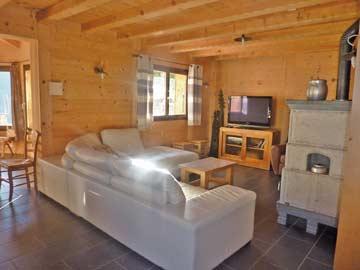 Ferienhaus in den Portes du Soleil - gut ausgestattetes und gemütliches Wohnzimmer
