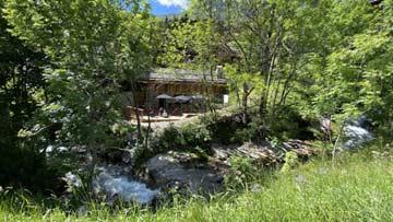 Hütte Le Grand Bornand - herrliche Lage am Bach