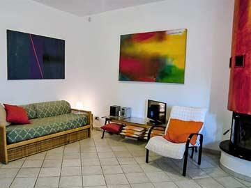 TV-Ecke im Wohn-/ Esszimmer