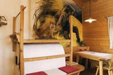 Ferienwohnung Rosengarten Latemar - gemütliche Holzblockhütte auf dem Bauernhof