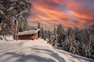 Ferienhaus Südtirol Meran 2000 - der erste Schneefall im Herbst