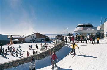 im Skigebiet Meran 2000