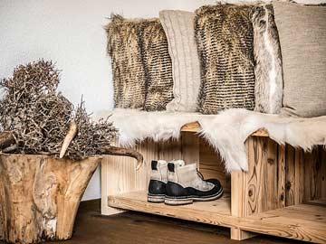 Einrichtung und Alpin-Deko vom Feinsten mit viel Liebe zum Detail
