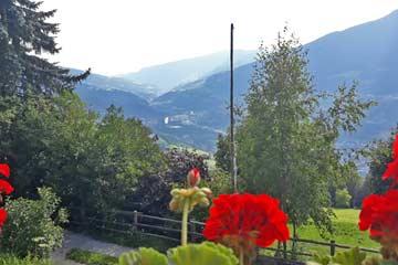 Aussicht im Sommer in Richtung Brixen