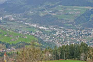 Blick im Sommer auf Brixen
