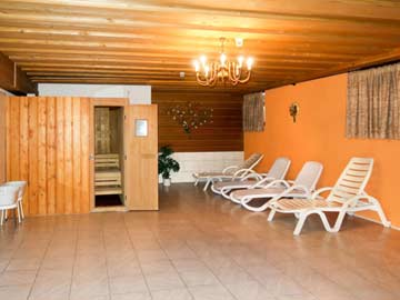 Mit den Gästen des Nachbarhauses gemeinsam nutzbarer Saunabereich
