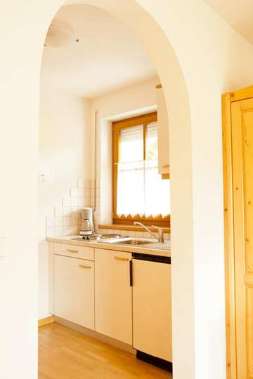 Küchenzeile in den Schlafzimmern (Appartements)