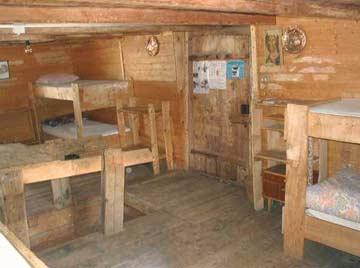 in der urigen Blockhütte
