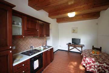 Fewo 4: Wohnküche mit TV