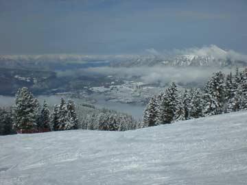 die Alpe Cermis im Winter