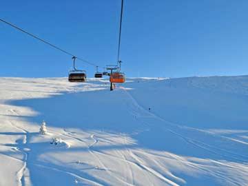 im Skigebiet Alpe Lusia
