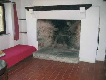 Kamin im Obergeschoss