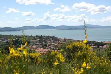 Blick zum Lago Trasimeno
