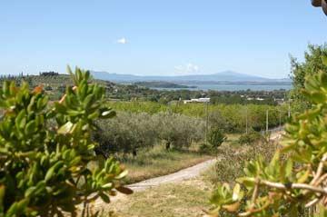 Blick vom Grundstück zum Lago Trasimeno