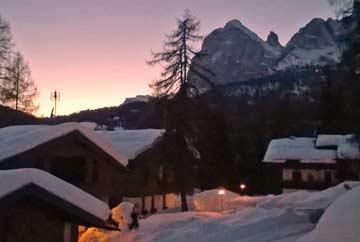 Magische Momente in den Dolomiten im Winter