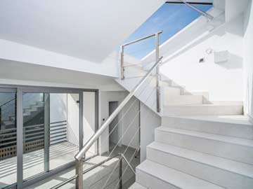 Zugang zur Dachterrasse