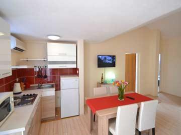 Wohnbereich und Kochnische