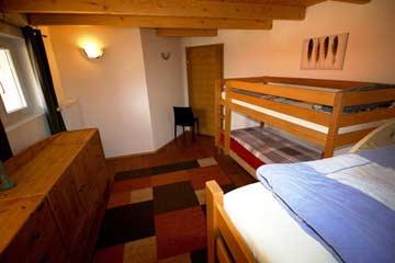 Blick in ein 5-Bett-Zimmer