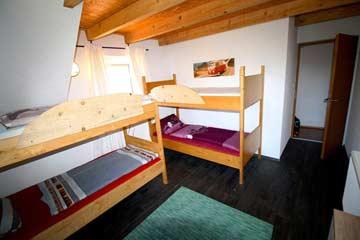 Blick in ein 4-Bett-Zimmer