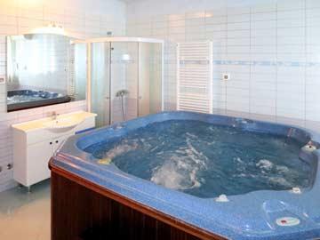 Wellnessbereich mit Dusche