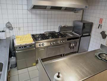gut ausgestattete Gruppenküche