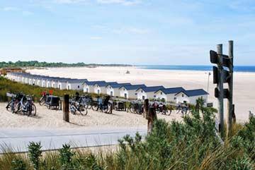 Fahrradstellplätze am Strand