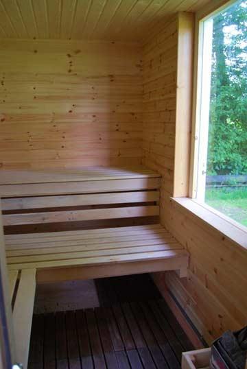 Sauna im Gartenhaus