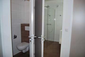 Dusche und sep. WC