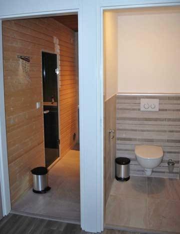 Sauna und sep. WC