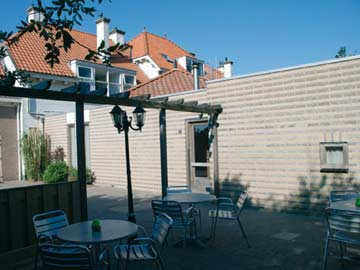 Terrasse am Gruppenhaus Westkapelle