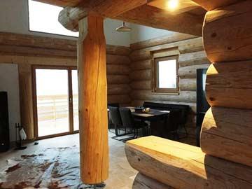 Holzheke an der Küche