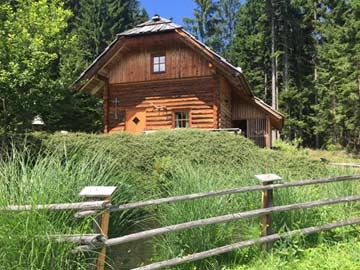 Urige Almhütte in Kärnten in Alleinlage