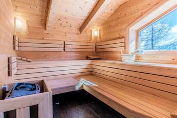 Sauna mit Bergblick