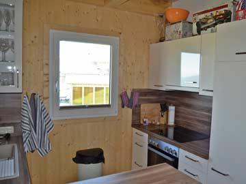 Küche im Ferienhaus am Klippitztörl