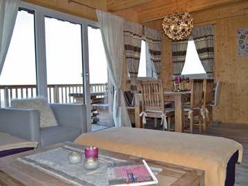 Sehr schöner Wohnbereich im Ferienhaus am Klippitztörl