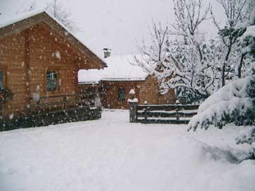 Neuschnee rund um das Ferienhaus Flattach