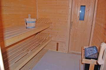 Sauna mit Zugang nach draußen