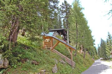 Hütte Nassfeld mit überdachtem Zugang