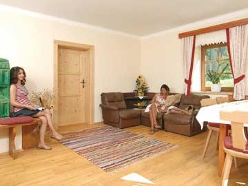 Wohnzimmer mit Sat-TV im EG