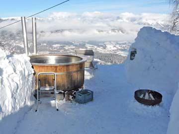 ein besonderes Schmankerl auch im Winter (je nach Bedingungen): der Hot Pot