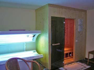 Ferienwohnung Russbach - Sauna und Solarium im Keller