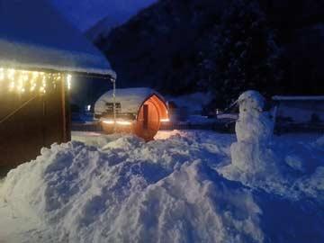 Winterimpressionen: Außensauna