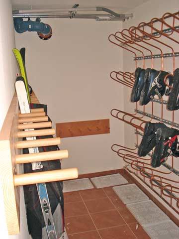 Gemeinsame Nutzung mit dem anderen Hausteil: Skikeller
