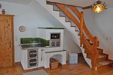 Holzherd/Ofen in der Hüttenstube