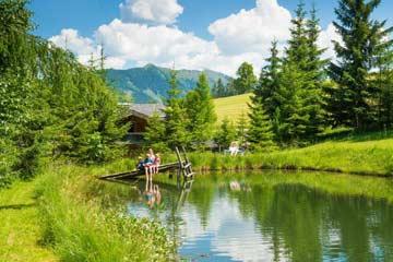 Schwimmteich vor der Hütte