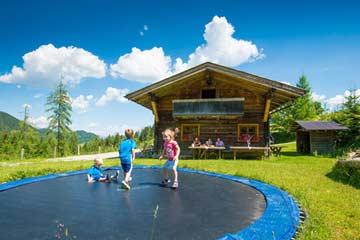 Familienurlaub auf der Hütte