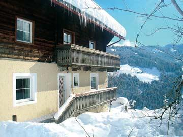 weitere Winteransicht vom Ferienhaus Mühlbach am Hochkönig