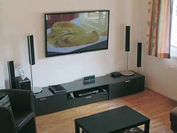 TV-Anlage im Wohnraum