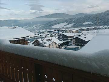 Aussicht im Winter auf Flachau